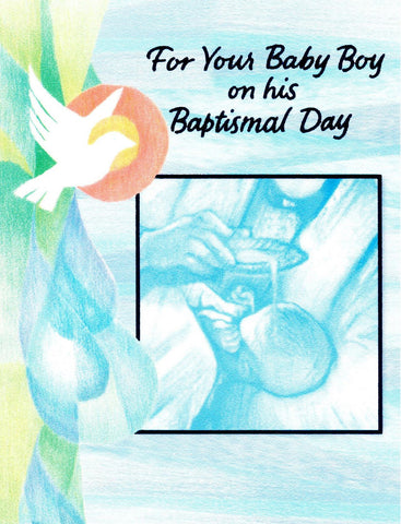 For Your Baby Boy on His Baptismal Day  - St. Patrick's Gift Shop & Bookstore