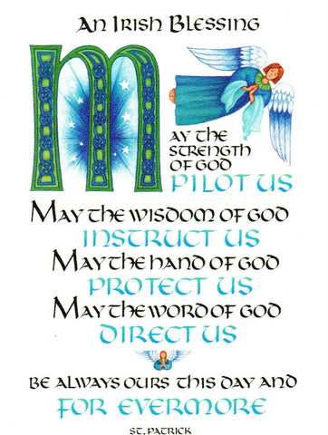 An Irish Blessing - May the Strength of God Pilot Us  - St. Patrick's Gift Shop & Bookstore