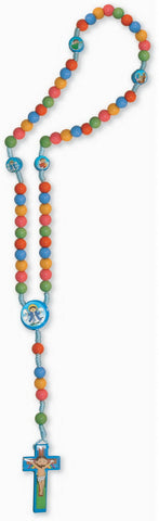 Children's Multi-Coloured Rosary with Clasp  - St. Patrick's Gift Shop & Bookstore