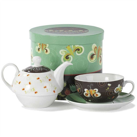 A Cheerful Heart Teapot and Plate Set  - St. Patrick's Gift Shop & Bookstore