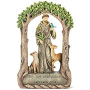 "St. Francis ""May Joy and Peace Surround You"" Figurine  - St. Patrick's Gift Shop & Bookstore"