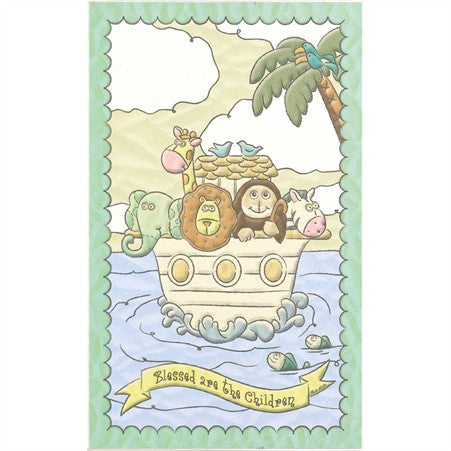 Blessed are the Children Noah's Ark Plaque  - St. Patrick's Gift Shop & Bookstore