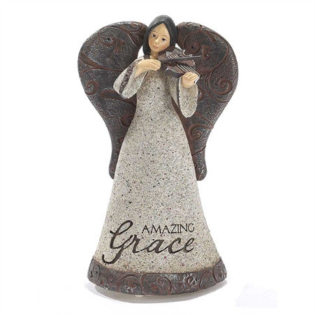 Amazing Grace - Musical Angel with Violin  - St. Patrick's Gift Shop & Bookstore