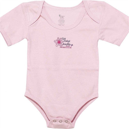 God Makes Everything Beautiful Pink 6-12 Months Baby Shirt  - St. Patrick's Gift Shop & Bookstore