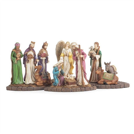 4 Piece Nativity Advent Candle Holder Set  - St. Patrick's Gift Shop & Bookstore