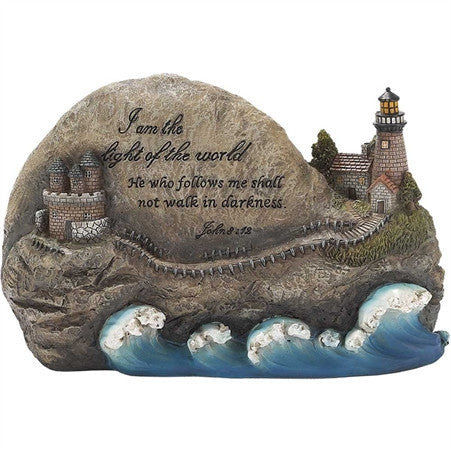 """I am the Light of the World"" Lighthouse Figurine  - St. Patrick's Gift Shop & Bookstore"