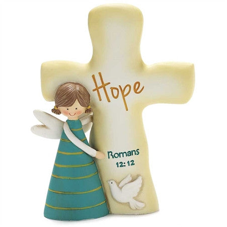 Angel with Cross - Hope - Romans 12:12  - St. Patrick's Gift Shop & Bookstore