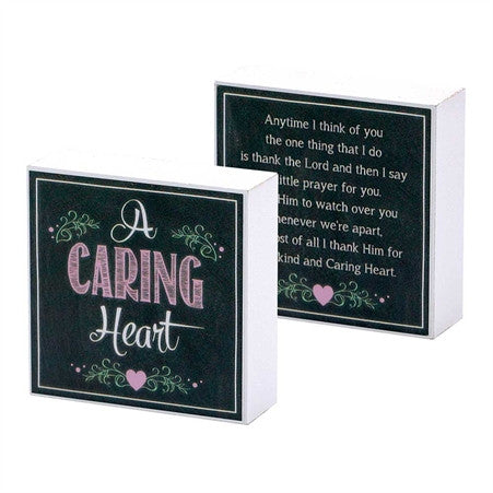 A Caring Heart - Tabletop Plaque  - St. Patrick's Gift Shop & Bookstore