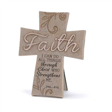 Faith Sandstone Cross  - St. Patrick's Gift Shop & Bookstore
