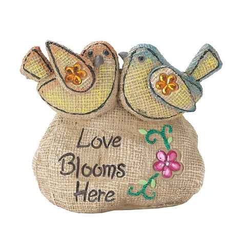 Cement Garden Rock - Love Blooms Here  - St. Patrick's Gift Shop & Bookstore