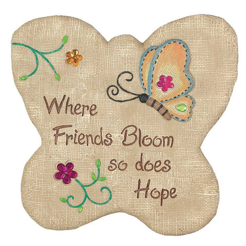 Cement Stepping Stone - Where Friends Bloom  - St. Patrick's Gift Shop & Bookstore