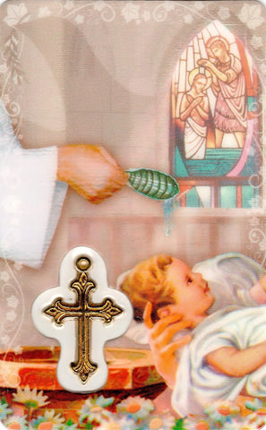 Baptism Prayer Card with Medal  - St. Patrick's Gift Shop & Bookstore - 1