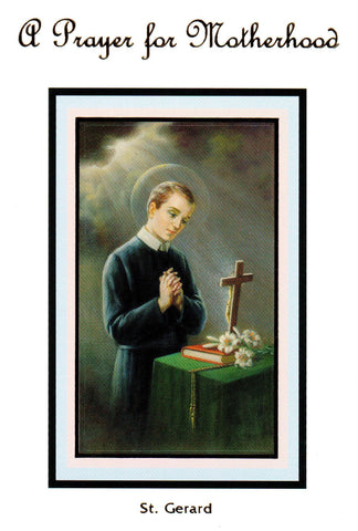 A Prayer for Motherhood - St. Gerard (White)  - St. Patrick's Gift Shop & Bookstore