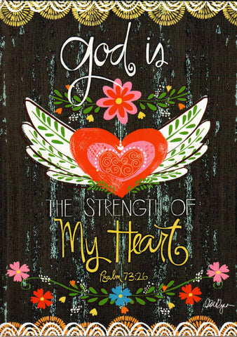 God is the Strength of My Heart - Hardcover Journal  - St. Patrick's Gift Shop & Bookstore