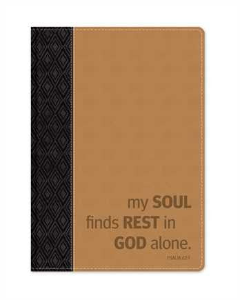 My Soul Finds Rest in God Alone - Leather Journal  - St. Patrick's Gift Shop & Bookstore