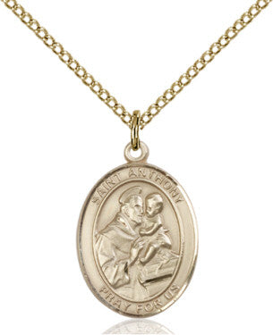 "GF St. Anthony Medal/ 18"" Curb Chain  - St. Patrick's Gift Shop & Bookstore"