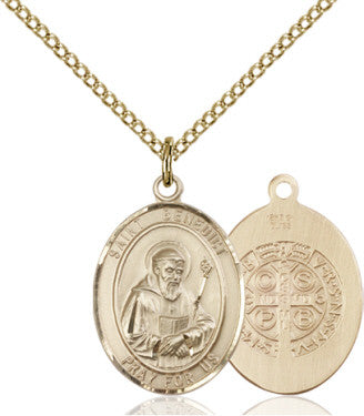 "GF St. Benedict Medal 8008/SG 24"" Curb Chain  - St. Patrick's Gift Shop & Bookstore"
