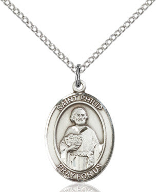 "SS St. Philip the Apostle Oval Medal/ 24"" Endless Curb Chain  - St. Patrick's Gift Shop & Bookstore"