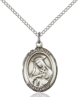 "SS St. Rose of Lima Oval Medal/ 24"" Endless Curb Chain  - St. Patrick's Gift Shop & Bookstore"