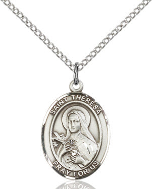 "SS St. Therese de Lisieux Oval Medal/ 24"" Curb Chain  - St. Patrick's Gift Shop & Bookstore"