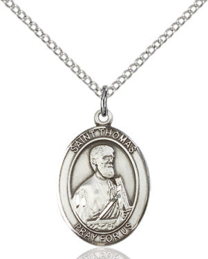 "SS St. Thomas the Apostle Oval Medal/ 24"" Curb Chain  - St. Patrick's Gift Shop & Bookstore"
