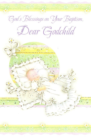 God's Blessings on Your Baptism, Dear Godchild  - St. Patrick's Gift Shop & Bookstore