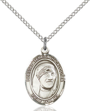 "SS Bl. Teresa of Calcutta 8295/ SN 18"" Curb Chain  - St. Patrick's Gift Shop & Bookstore"
