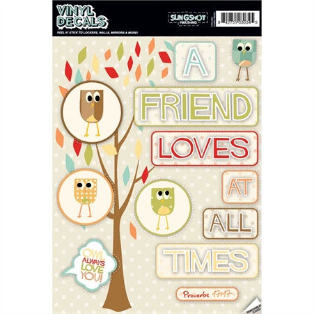 A Friend Loves At All Times - Vinyl Decal  - St. Patrick's Gift Shop & Bookstore