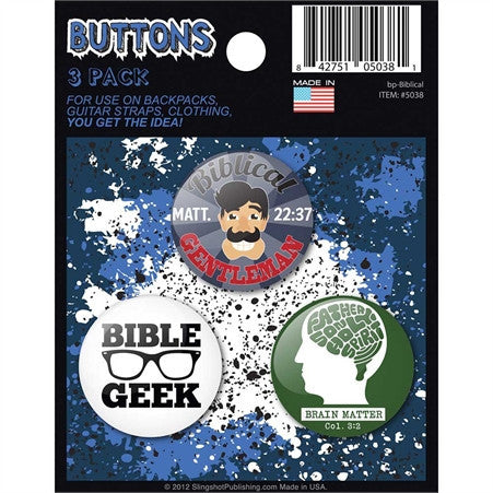 Button 3-Packs Biblical  - St. Patrick's Gift Shop & Bookstore