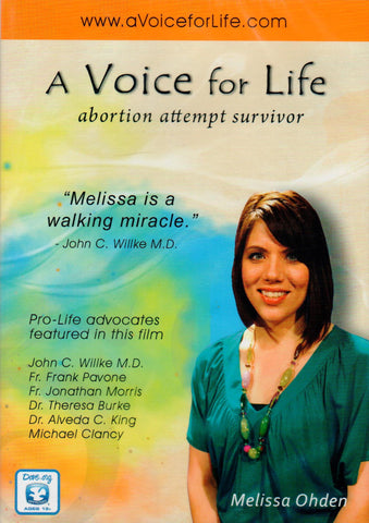 A Voice for Life: Abortion Attempt Survivor  - St. Patrick's Gift Shop & Bookstore