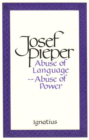 Abuse of Language - Abuse of Power  - St. Patrick's Gift Shop & Bookstore