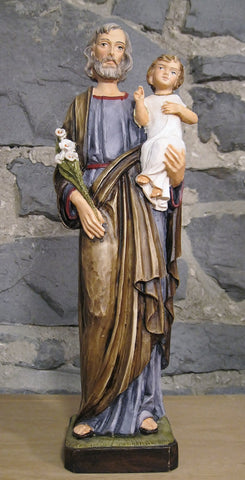 St. Joseph with Child Jesus - 12 inches  - St. Patrick's Gift Shop & Bookstore