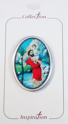 Visor Clip St. Christopher (Coloured) - St. Patrick's Gift Shop & Bookstore - 1