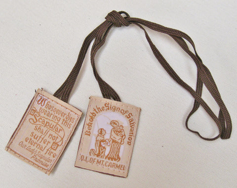 Cloth Scapular (Brown Cord) $2.95  - St. Patrick's Gift Shop & Bookstore