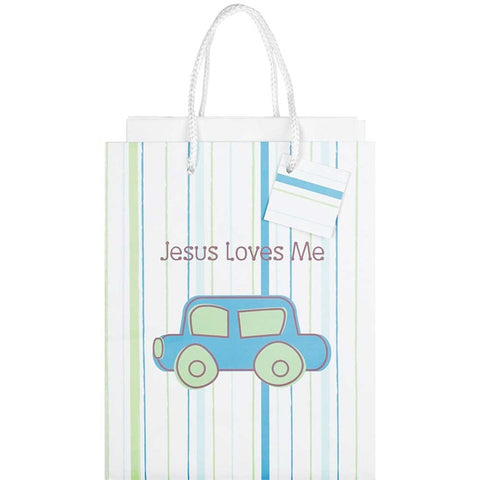 Jesus Loves Me Blue Gift Bag  - St. Patrick's Gift Shop & Bookstore