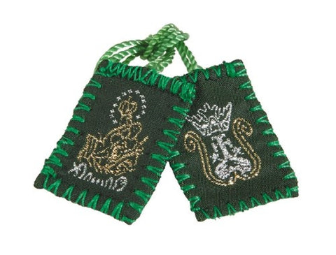 Green Wool Scapular  - St. Patrick's Gift Shop & Bookstore