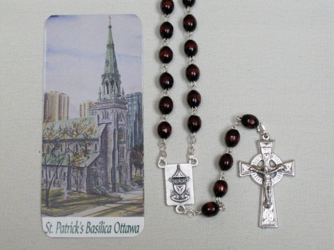 St. Patrick's Basilica Rosary Wooden Beads Default Title - St. Patrick's Gift Shop & Bookstore