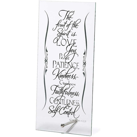 Fruit of the Spirit Glass Plaque  - St. Patrick's Gift Shop & Bookstore