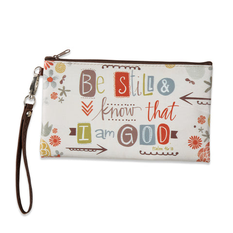 Be Still and Know Zippered bag