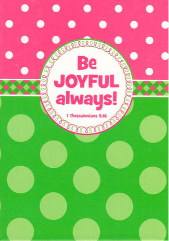 Be Joyful Always - Hardcover Journal  - St. Patrick's Gift Shop & Bookstore