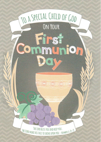A Special Child of God Communion Card
