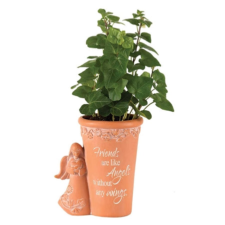 Friends are Like Angels Resin Flowerpot