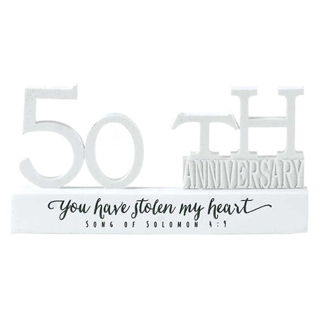 50th Anniversary Word Figurine