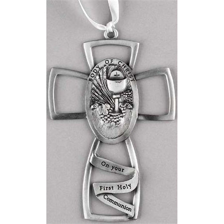 First Communion Cross with Chalice