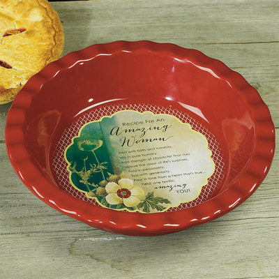 Amazing Woman deep dish pie plate  - St. Patrick's Gift Shop & Bookstore