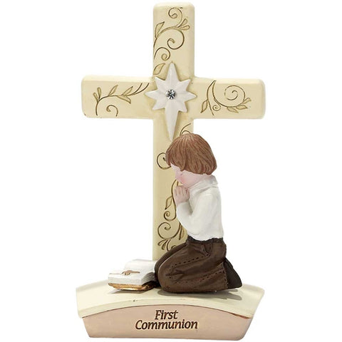 First Communion Tabletop Cross Boy