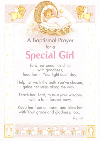 A Baptismal Prayer for a Special Girl  - St. Patrick's Gift Shop & Bookstore