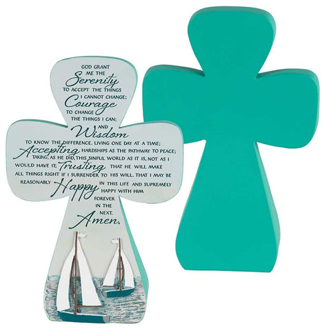 Serenity Prayer Resin tabletop cross