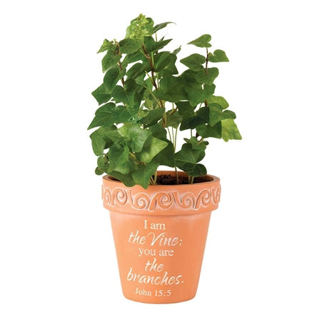 I am the Vine Resin Flowerpot