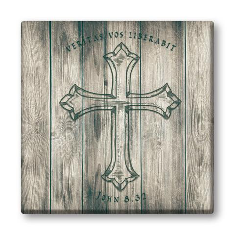 Veritas Vos Liberabit - Canvas  - St. Patrick's Gift Shop & Bookstore